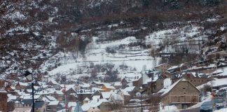Imagen de Gistaín de otro invierno. Foto: SobrarbeDigital.