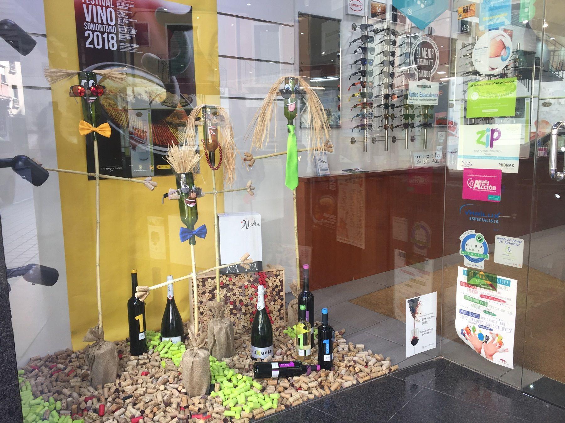Natural Optics San Ramón, escaparate ganador del concurso Vino Somontano 2018