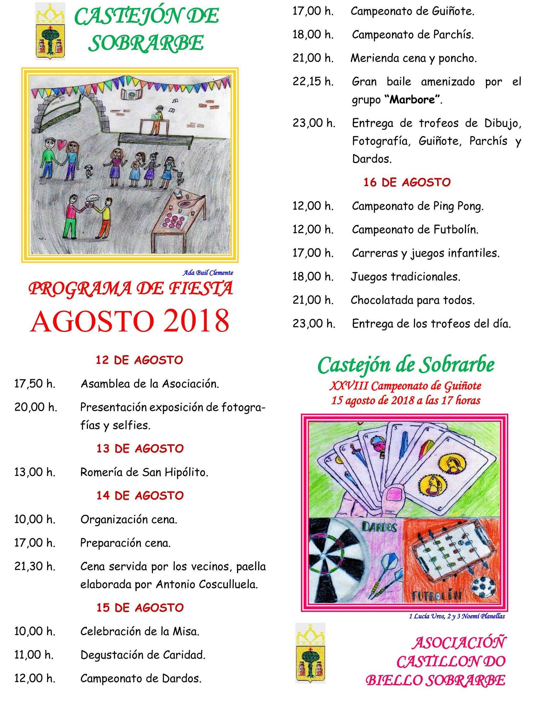 Fiestas en Castejón de Sobrarbe 2018
