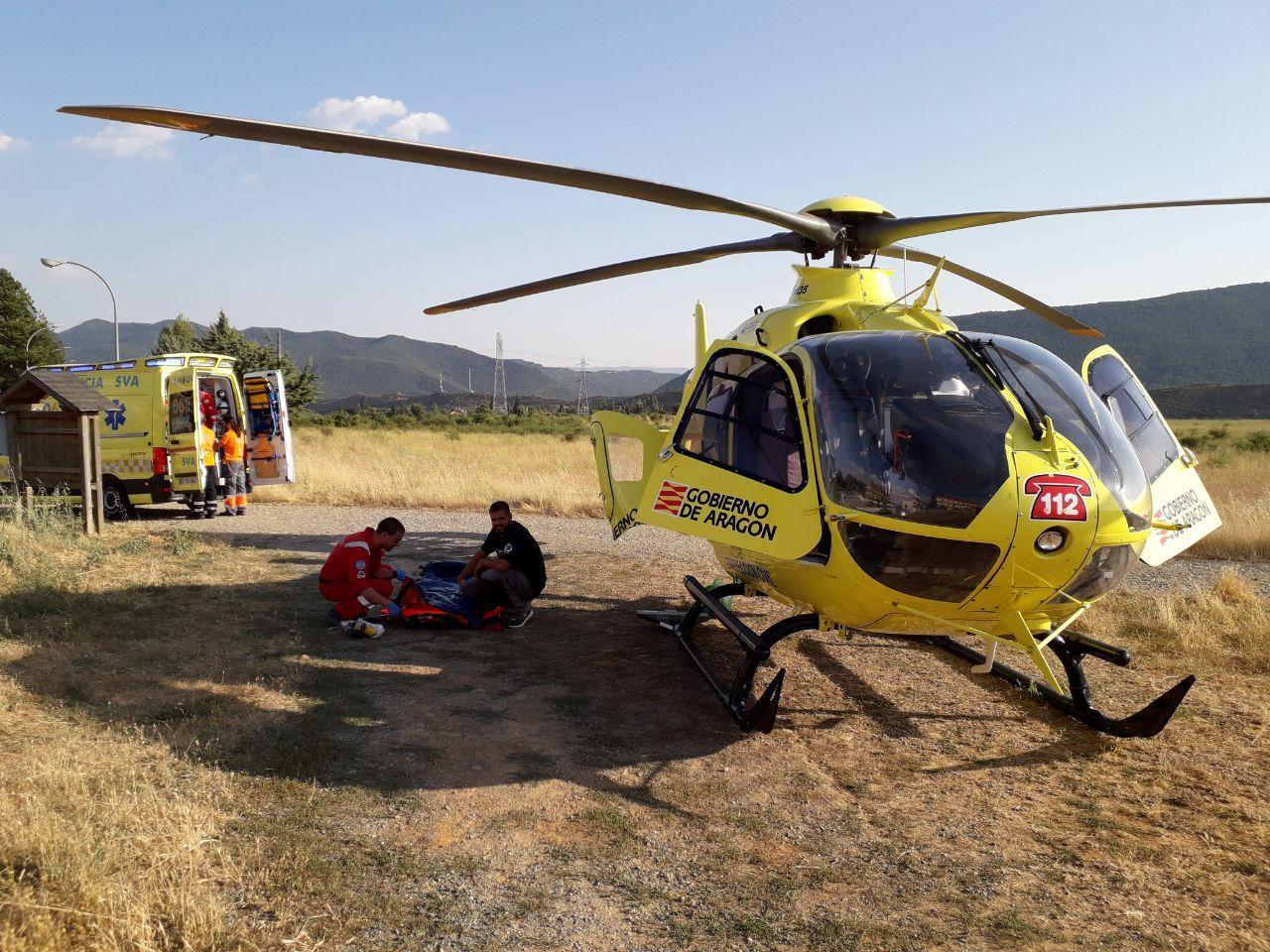 Helicóptero del 112 Aragón