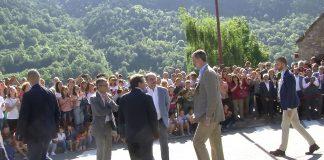El Rey Felipe VI en su visita a Ordesa. Foto: SobrarbeDigital