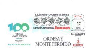 Imagen del décimo dedicado al Centenario de Ordesa