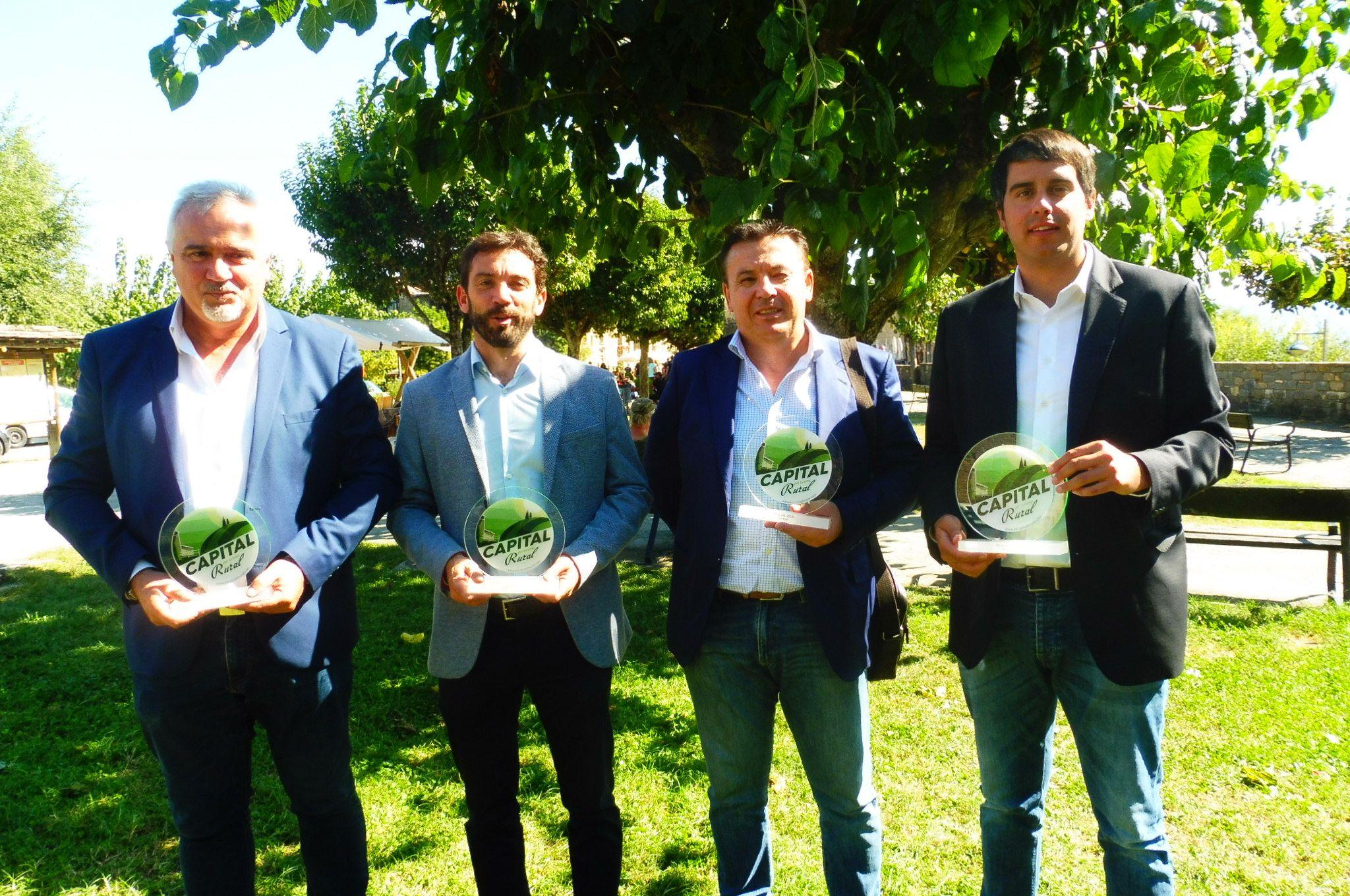 De izquierda a derecha: Jesús Amo, Enrique Pueyo, Lope Ruíz y Rhamsés Ripollés. Foto: SobrarbeDigital