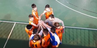 Equipo junior de basket del Sobrarbe