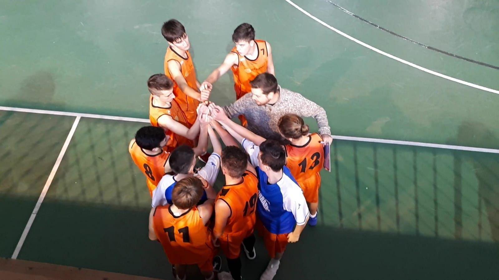 Equipo junior de basket del Sobrarbe