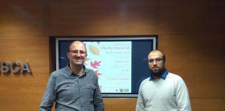 José Luis Bergua y Urko del Campo en la presentación que tuvo lugar en la Diputación de Huesca