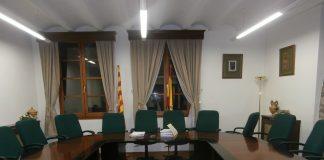 Salón de plenos del Ayuntamiento de Aínsa. Foto: SobrarbeDigital