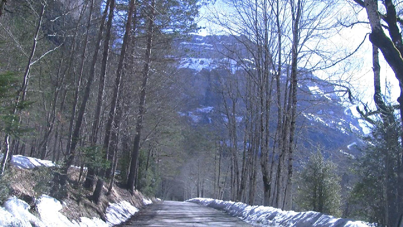 Carretera de acceso a Ordesa. Foto: SobrarbeDigital