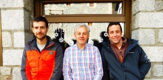 Javier Paúles, Miguel Noguero y Toño Lobez. Foto: SobrarbeDigital