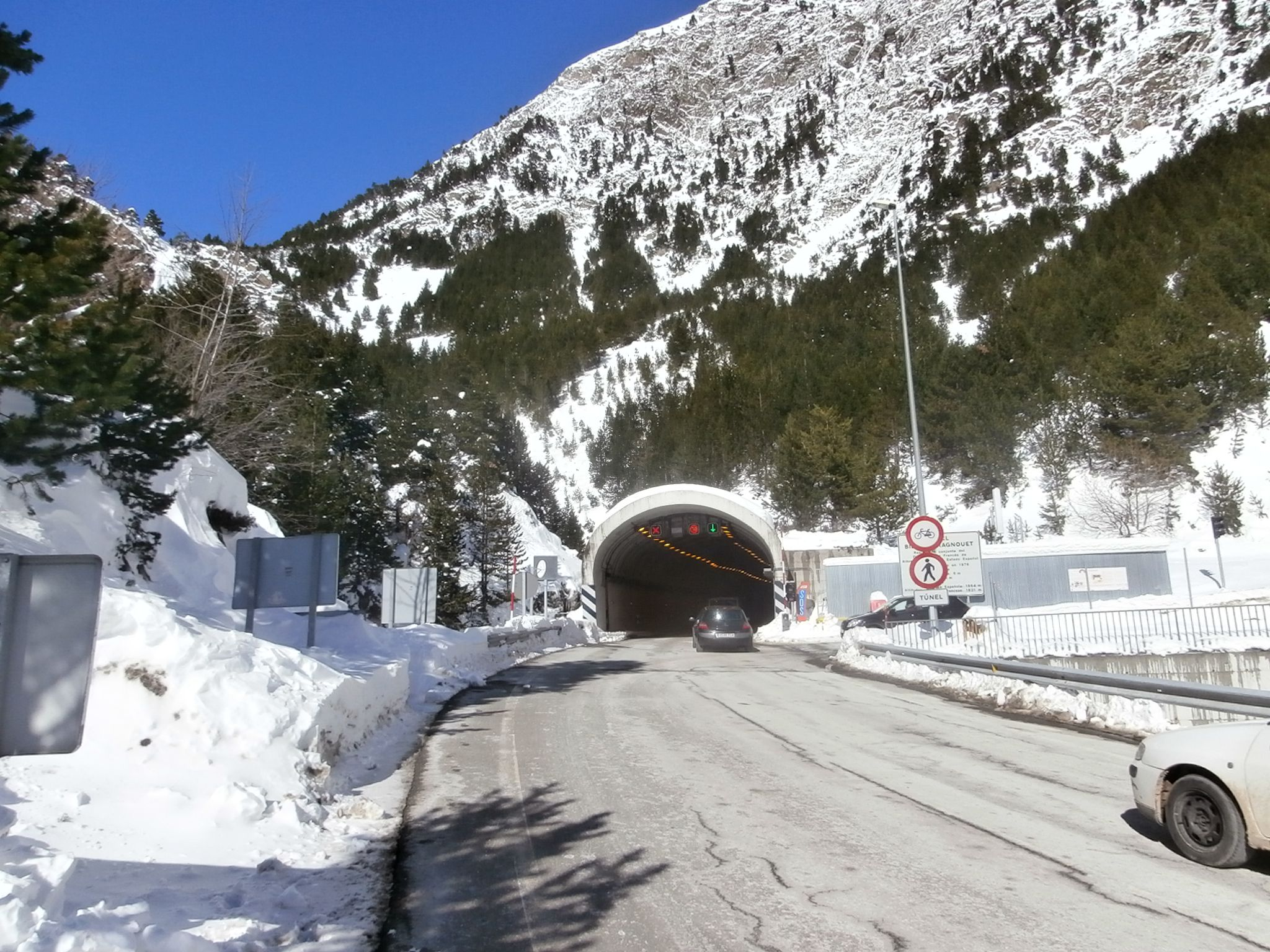 Imagen de archivo del túnel de Bielsa-Aragnouet. Foto: SobrarbeDigital