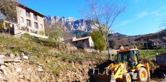 Imagen de las obras en Araguás. Foto: SobrarbeDigital