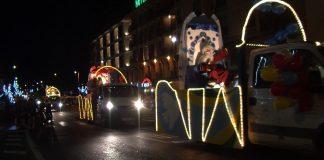 Los Reyes Magos llegando a Aínsa. Foto: SobrarbeDigital.