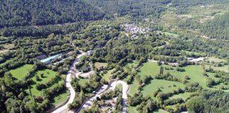 Saravillo imagen aérea de las obras . Foto: DPH.