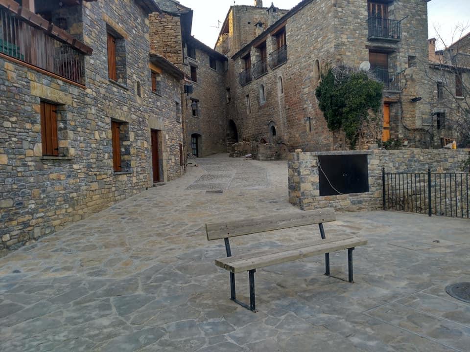 Nuevo aspecto de la Calle Morisma de Aínsa.