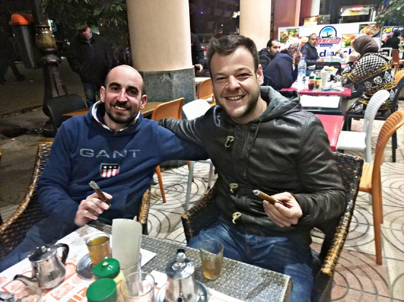 De izq. a dcha., Alfonso Monjas y Miguel Fuertes.
