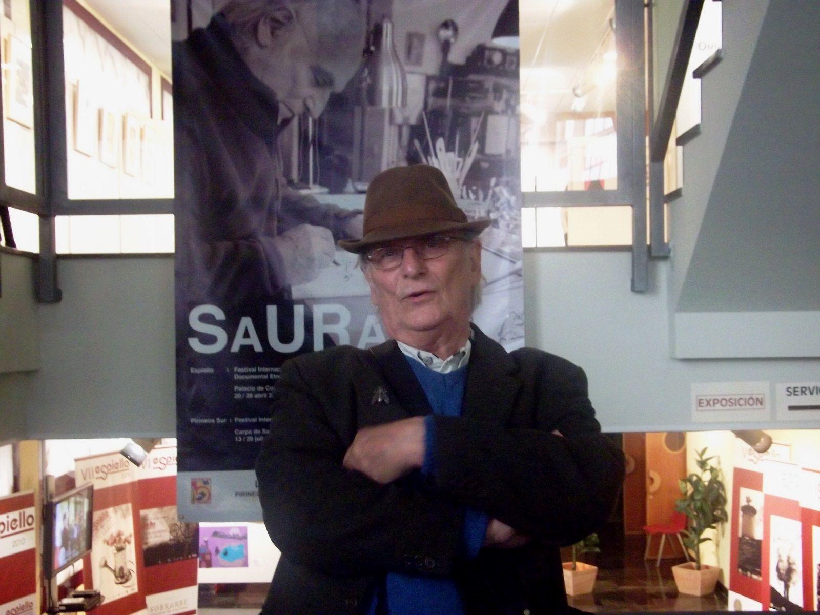 Carlos Saura en-su-visita-al-festival-ESPIELLO-en-2012.