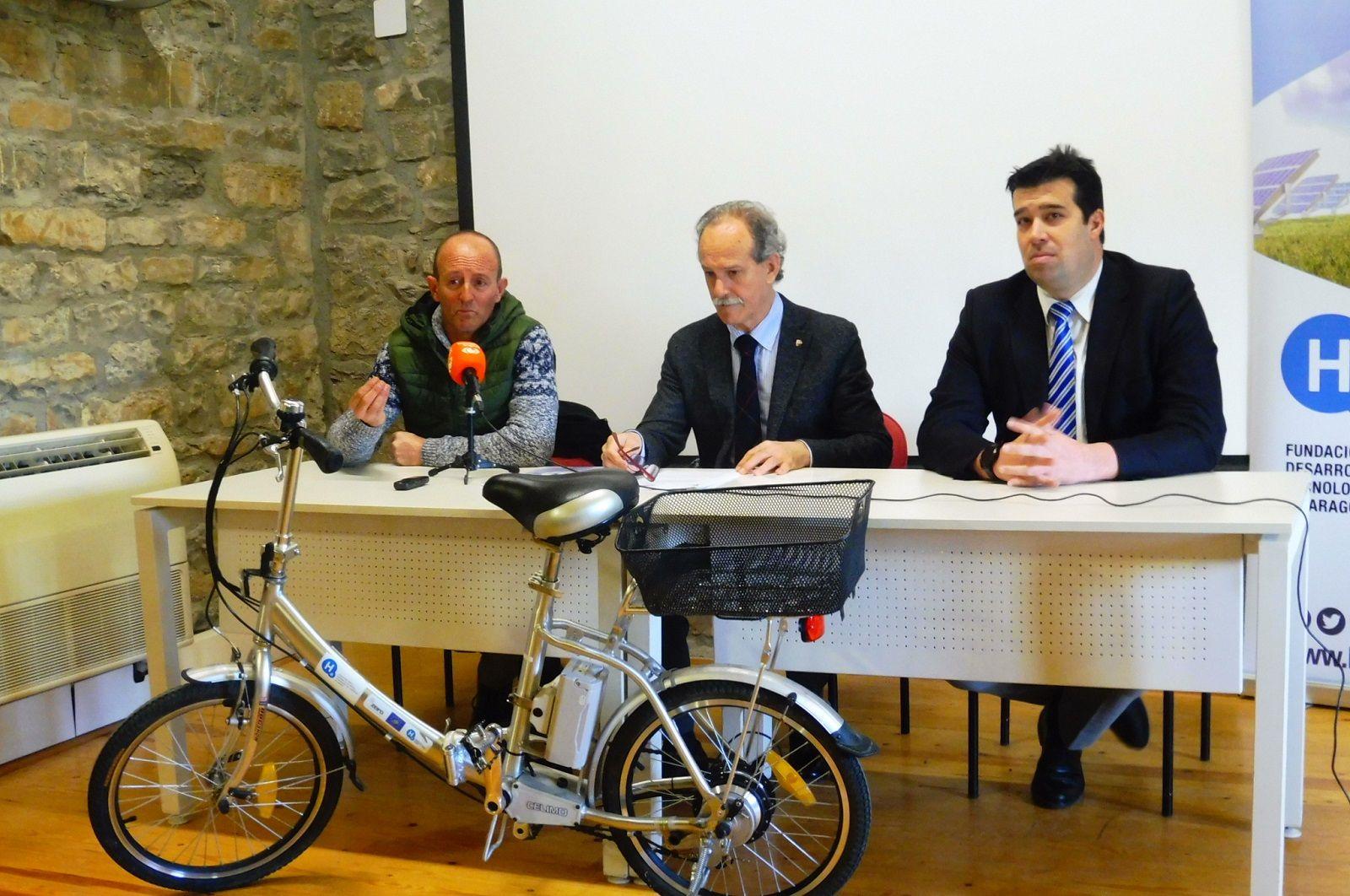 Oscar Díez, Jesús Sánchez y Fernando Palacín. Foto. SobrarbeDigital.