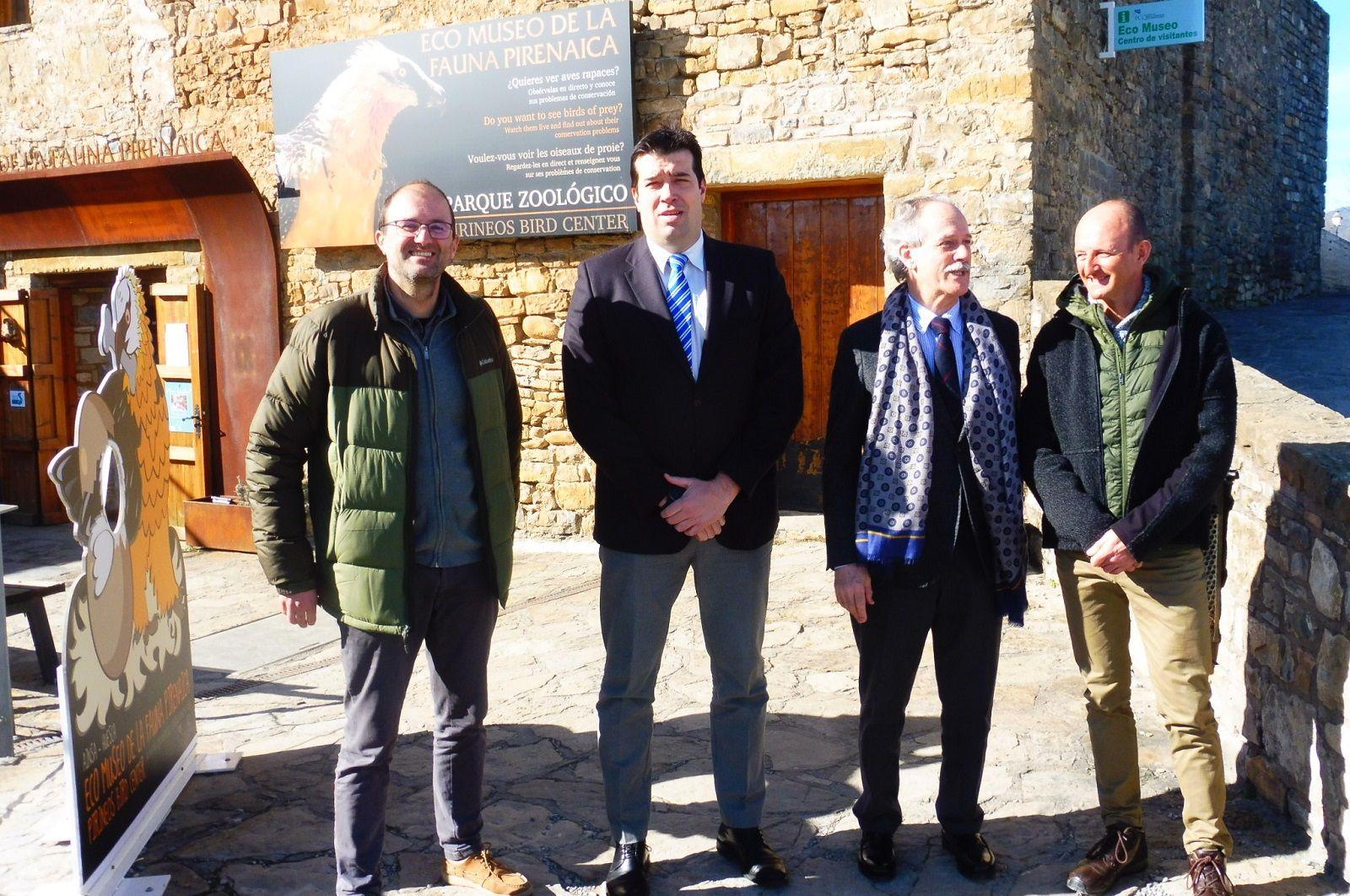 osé Luis Bergua, Fernando Palacín, Jesús Sánchez y Oscar Díez. Foto. SobrarbeDigital.
