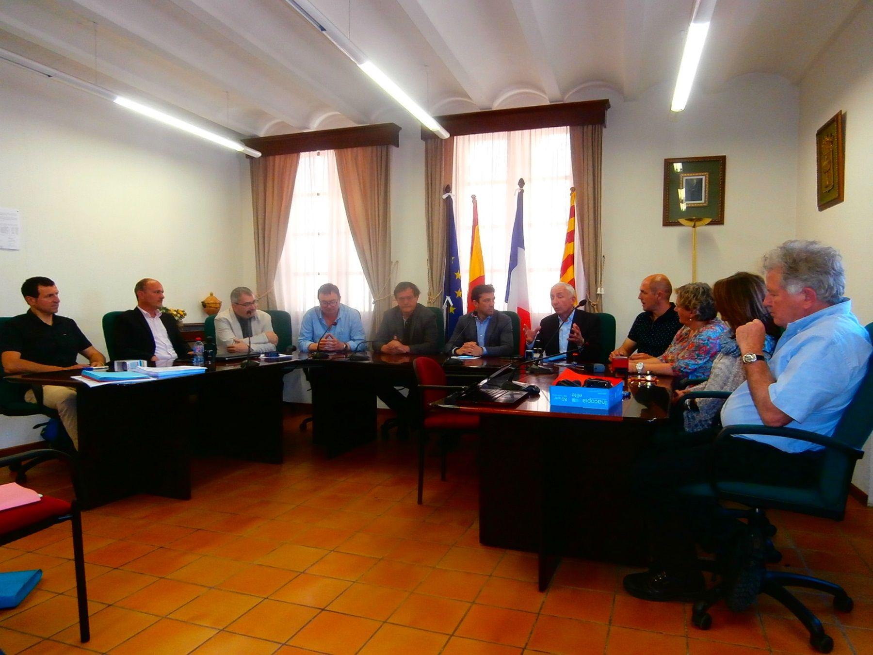 Reunión de las partes implicadas del proyecto. Foto: SobrarbeDigital.