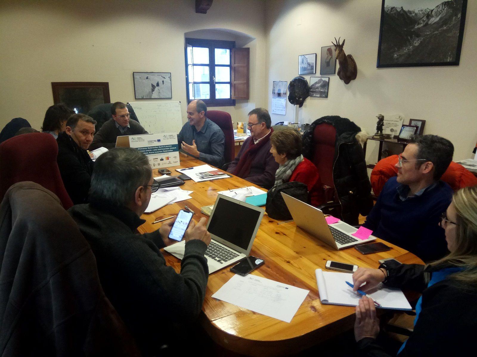 Reunión celebrada en Bielsa.