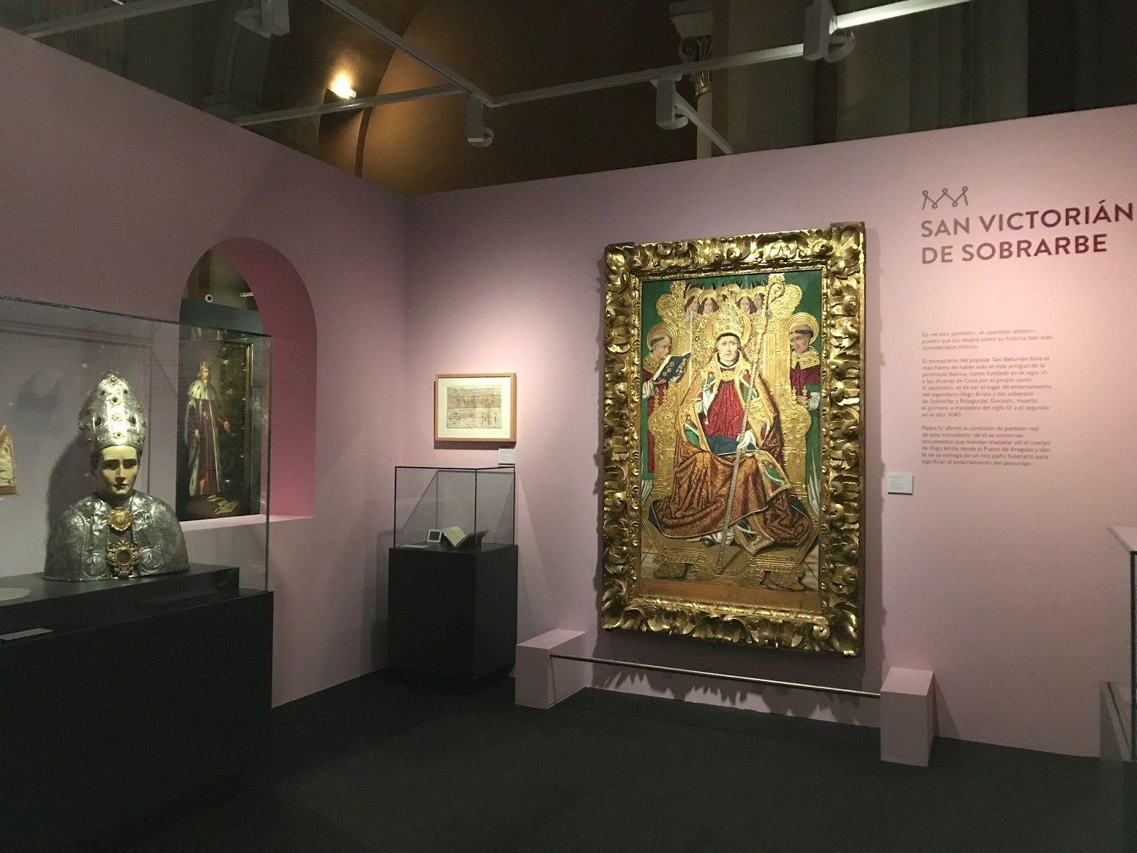 San Victorián de Sobrarbe presente en la exposición de los panteones reales de Aragón. Foto: DGA.