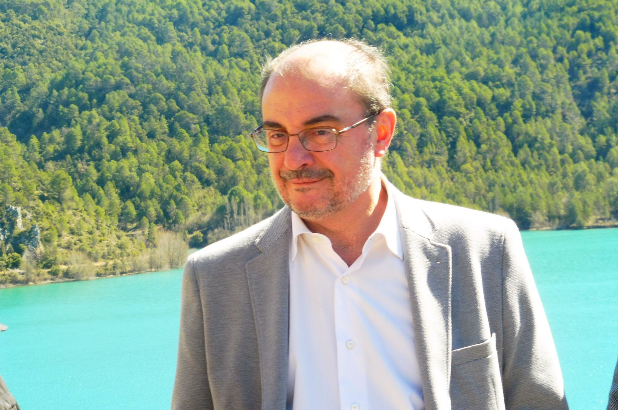 Javier Lambán, presidente del Gobierno de Aragón en Ligüerre de Cinca. Foto. SobrarbeDuigital.