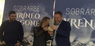 José Luis Soro recibiendo el galardón. Foto: SobrarbeDigital.