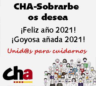 Cha-Sobrarbe os desea Feliz año 2021