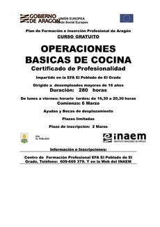 Curso gratuito de operaciones b sicas de cocina en la efa for Manual operaciones basicas de cocina